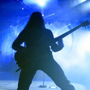 rökmaskin på rockkonsert